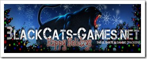 blackcats games xmas logo