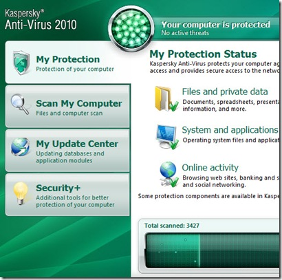 kaspersky anti virus 2010 screenshot