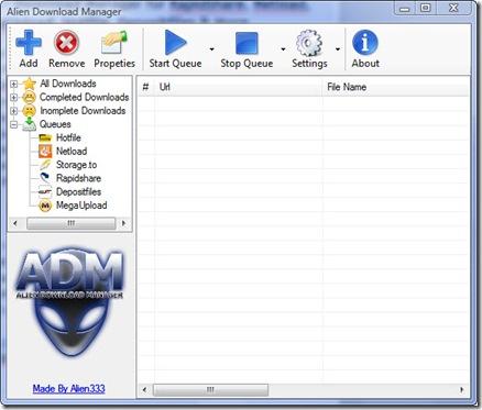 alien download manager