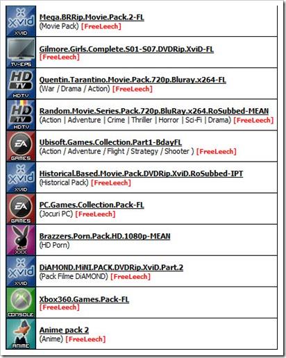 FileList Packs