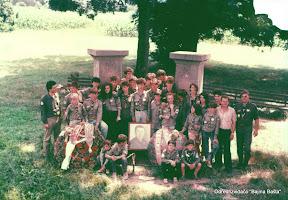 Izvidjaci na spomen obelezju Slobodana Penezica-Krcuna1987.jpg