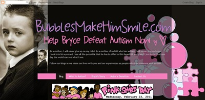 BubblesMakeHimSmile.com supports Pink Shirt Day