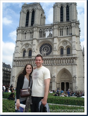 Chris and I outside the front of Notre Dame