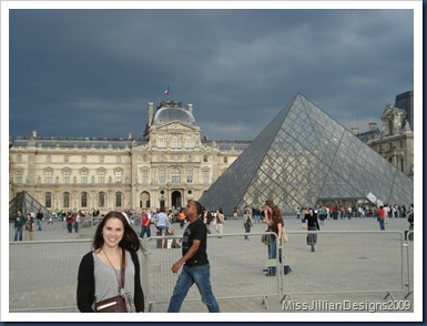 Me, the Louvre, and its pyramids