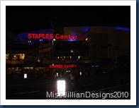 Outside the Staples Center
