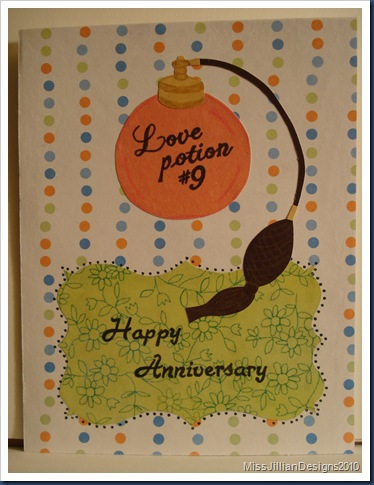 Anniversary Card - Love Potion - Front