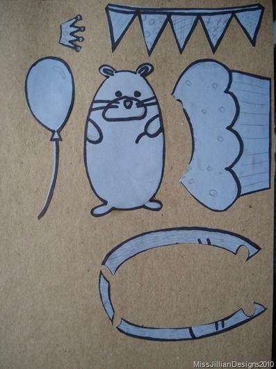 Hedgehog Birthday Card Stencils