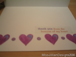 Thank you card - inside - 2006, maybe April