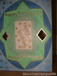 Birthday card - front - 2006, August