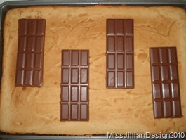 chocolate on warm toffee bars