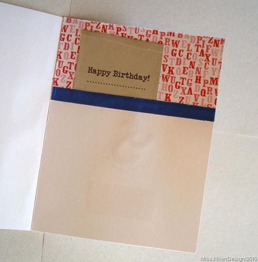 Birthday Card - Typewriter Cake - Inside
