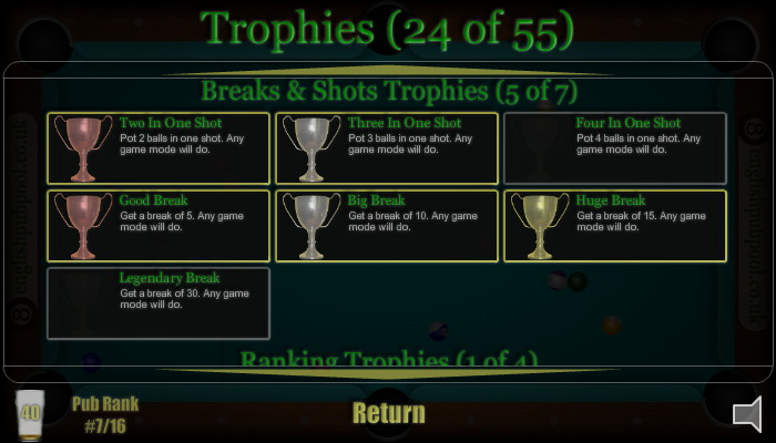 American 8-Ball Pool - Win Pool Trophies