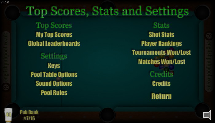 Stats - American 9-Ball Pool - Screen Shot