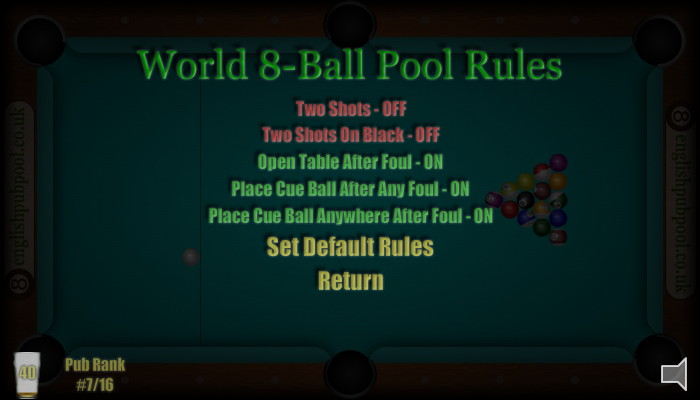 American 8-Ball Pool - 8-Ball Pool Rules