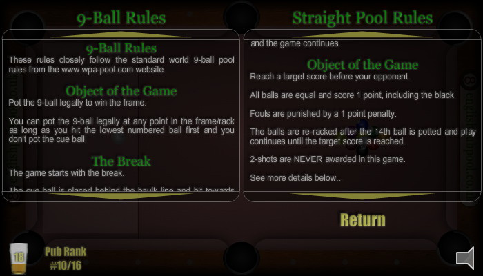 Pool Rules - American 9-Ball Pool - Screen Shot