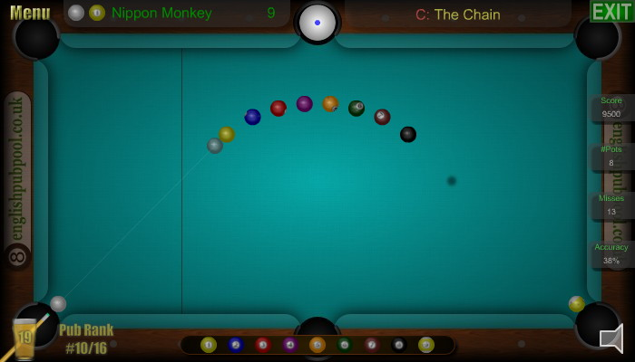 The Chain - American 9-Ball Pool - Screen Shot