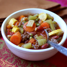 Italian Vegetable Soup with Summer Squash