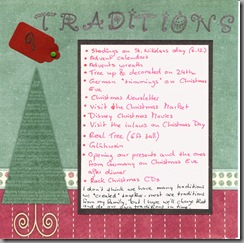 Traditions - Day 9