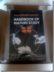 Handbook of Nature Study Photo of Book Cover in Mailing Box