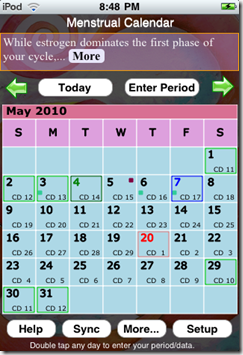 Menstrual Calendar App