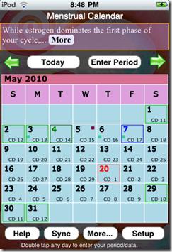 Menstrual Calendar App