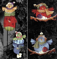 chilly chatter ornaments-set of 4