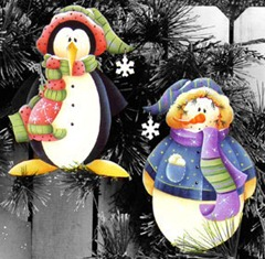frosty fun ornaments - set of 2