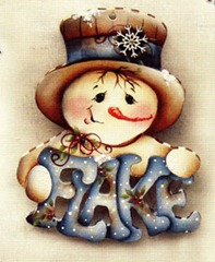 flake snowman ornament