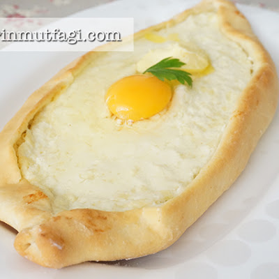 Egg And Cheese Turkish Flat Bread (Pide)