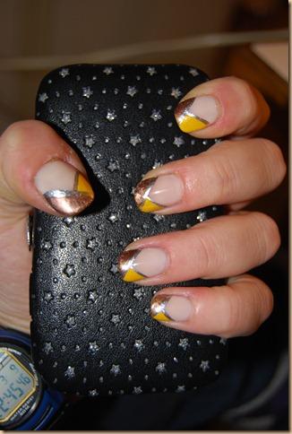 """""""french metallizzata"""", bronzo, oro, argento, """"nail art"""""""