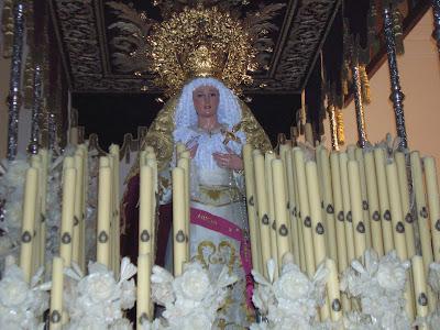 Nuestra Señora de la Amargura, volverá a ser acompañada por la música de la Banda Municipal de Música de Pozoblanco. Foto de la Semana Santa de 2007 por POZOBLANCO NEWS (www.pozoblanconews.blogspot.com)