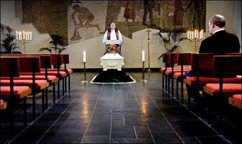 begravelse uten en sjel