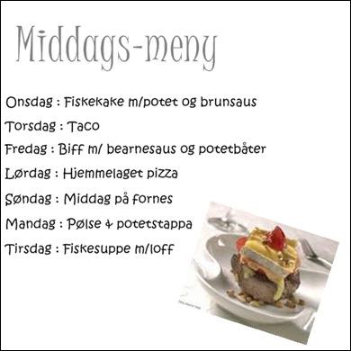 middagsmeny