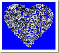 C-A-T heart blue collage