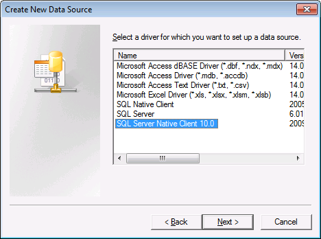 Sql Native Client 10.0 Driver