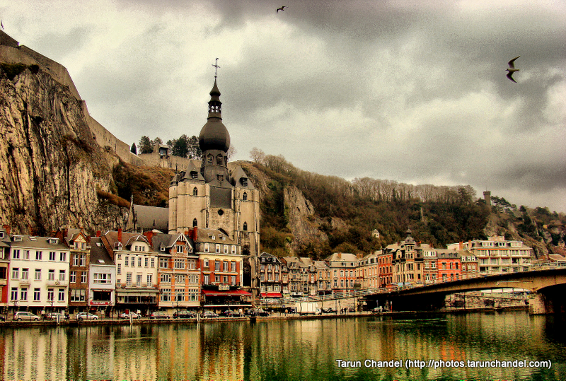 River Meuse Citadel Fort and Collegiate Church of Notre-Dame Dinant Namur Belgium, Tarun Chandel Photoblog