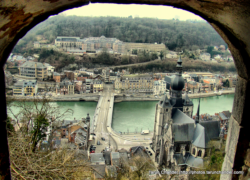 River Meuse From Citadel Fort and Collegiate Church of Notre-Dame Dinant Namur Belgium, Tarun Chandel Photoblog