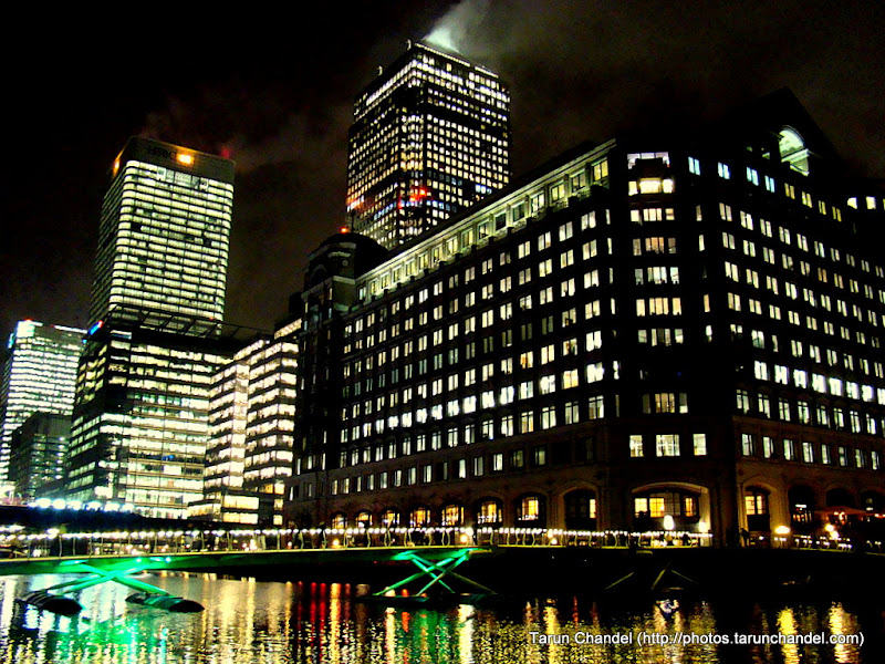 Canary Wharf Shining Bright at Night, Tarun Chandel Photoblog
