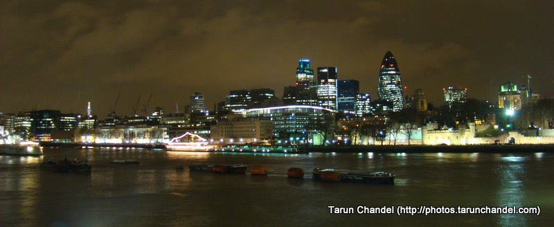 Gherkin Building Thames Riverside night, Tarun Chandel Photoblog