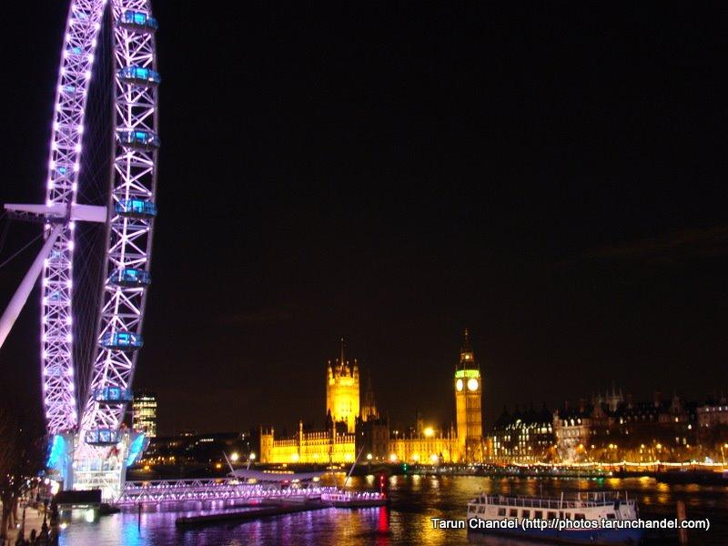 London Eye Big Ben House of Parliament Night, Tarun Chandel Photoblog