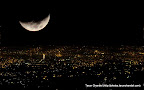 Moon and the City Ta, Tarun Chandel Photoblog