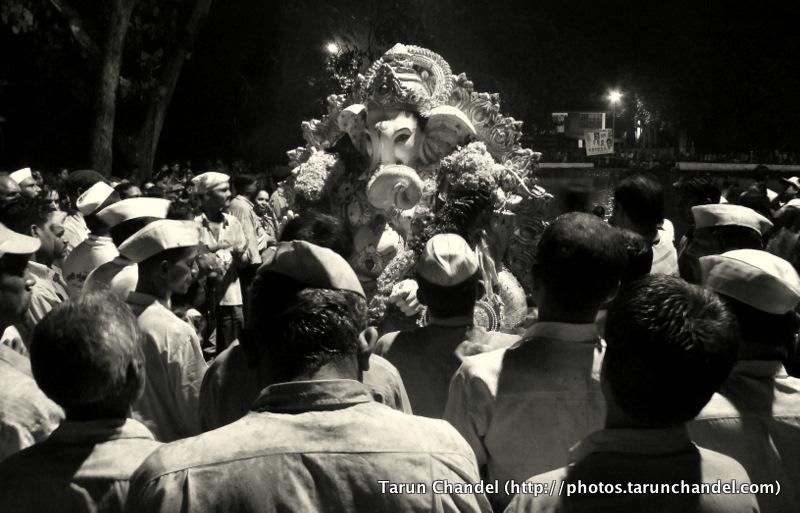 Ganesh Visarjan Night Festival Mumbai, Tarun Chandel Photoblog
