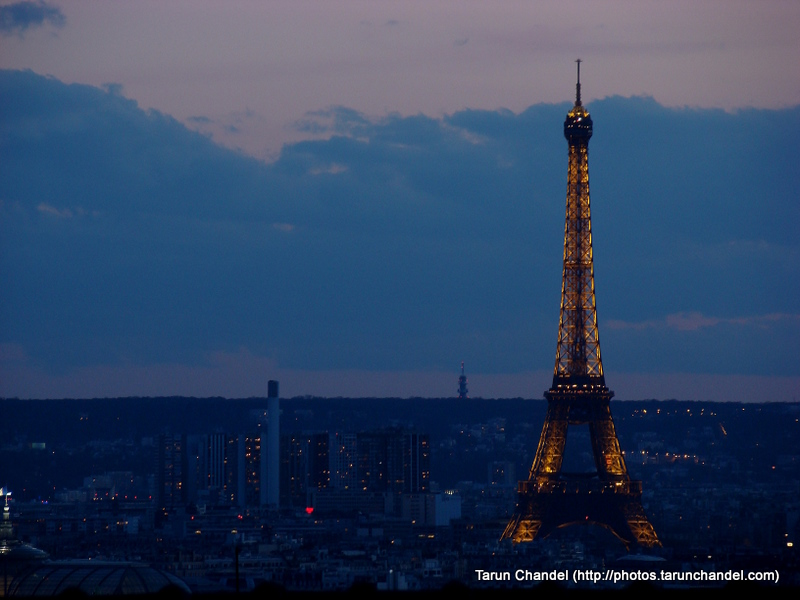 Eiffel Tower Paris City At Night Paris France, Tarun Chandel Photoblog
