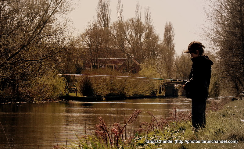 Fishing Canalbank Forest Netherlands, Tarun Chandel Photoblog
