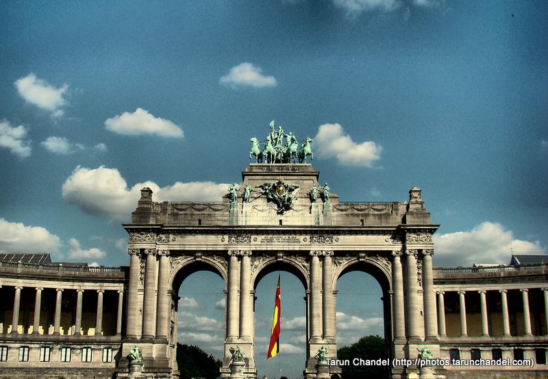 Cinquantenaire Triumphal Arc Arc of Triumph Belgium Brussels, Tarun Chandel Photoblog