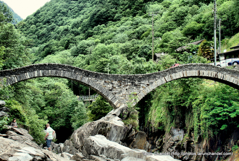 Ponte dei Salti Ancient double arch stone bridge Lavertezzo Verzasca valley in Switzerland, Tarun Chandel Photoblog