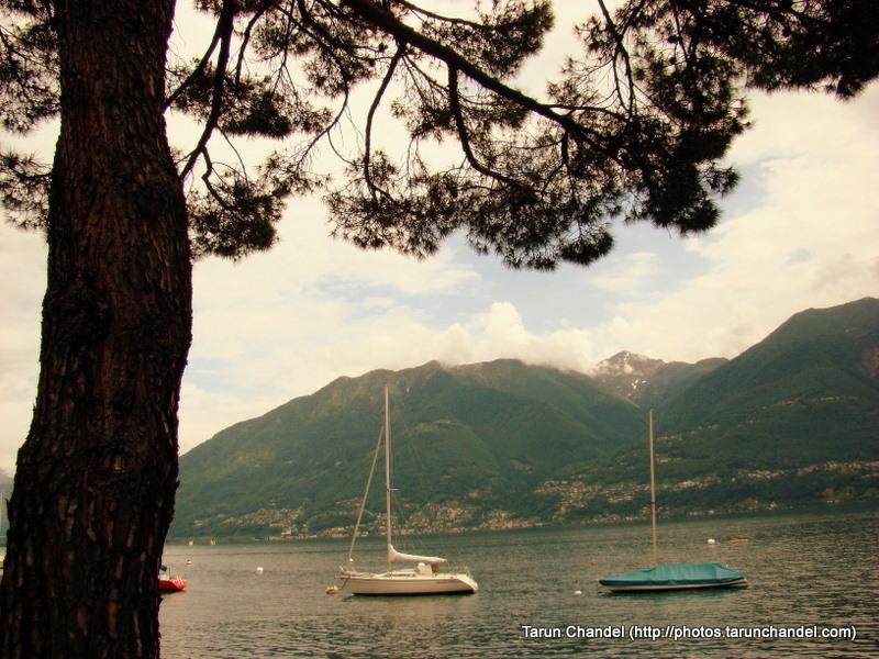 Lake Maggiore Bank Boats at Locarno Switzerland, Tarun Chandel Photoblog