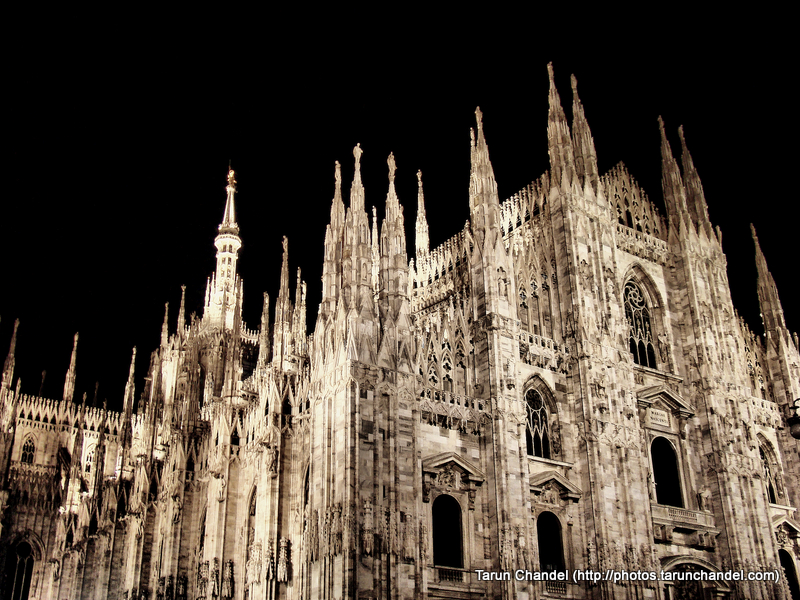 Milan Duomo Milan Night Cathedral Night Milan Italy, Tarun Chandel Photoblog