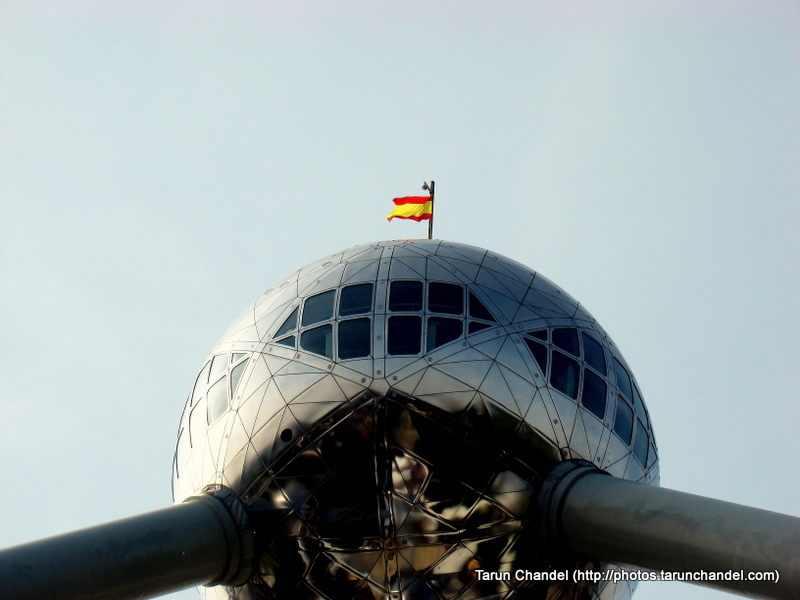 Spanish Flag Atomium Spanish Fierra Brussels, Tarun Chandel Photoblog