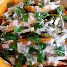Warm Mayo-Dijon Roasted Potato Salad with Haricot Verts